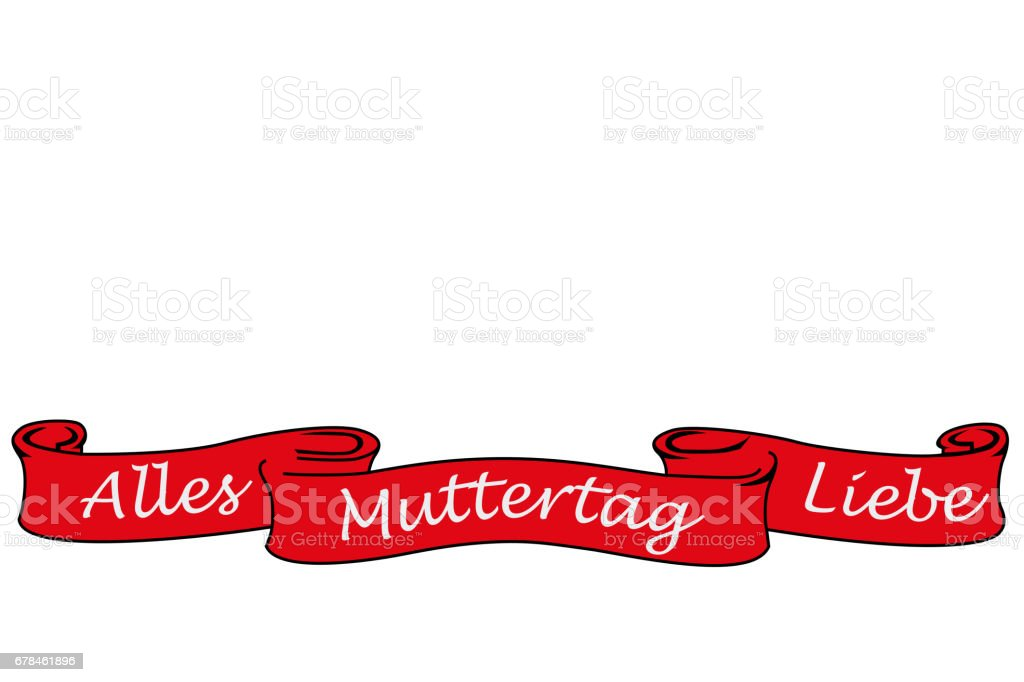 Banner with the german words for all love mother´s day stock photo