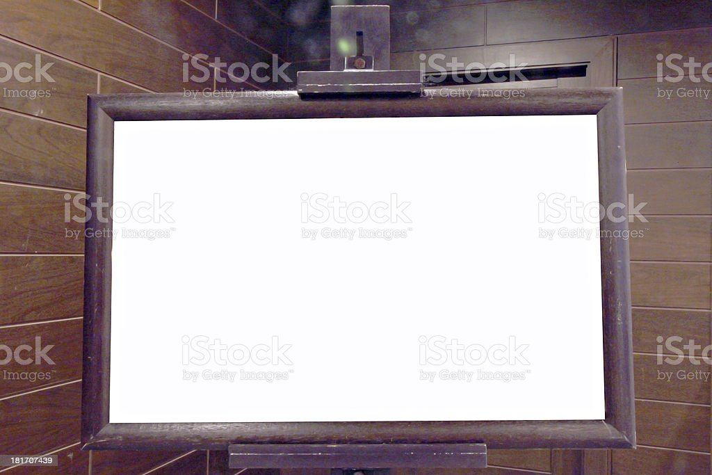 Banners made of wooden frames royalty-free stock photo