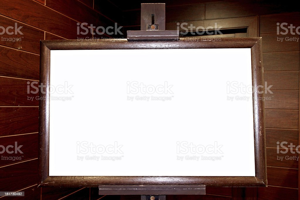 Banners made of wooden frames. royalty-free stock photo