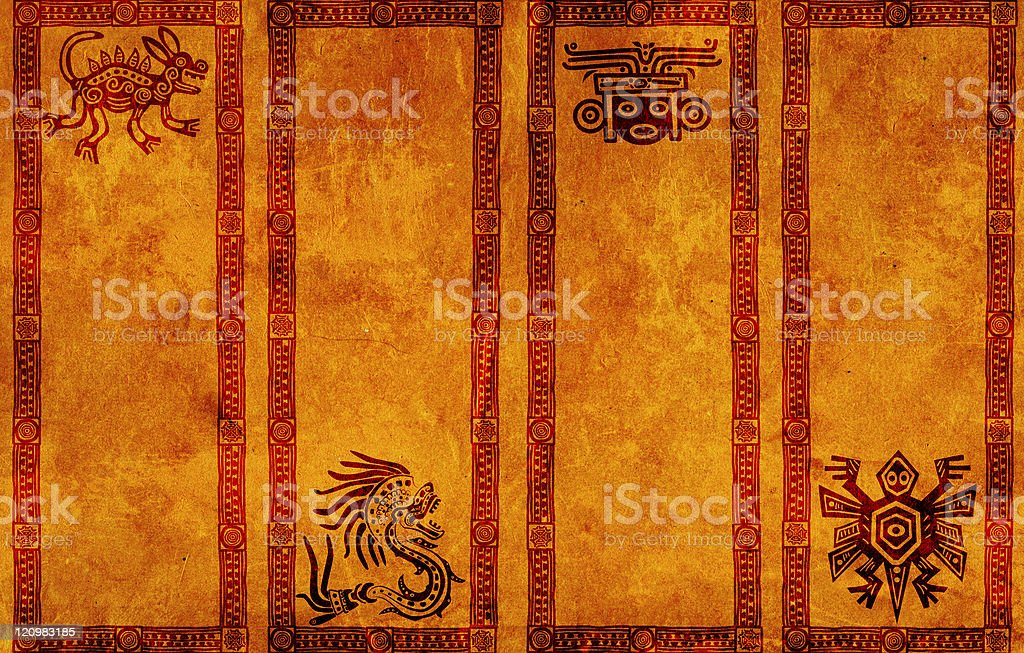 Banners with American Indian traditional patterns stock photo
