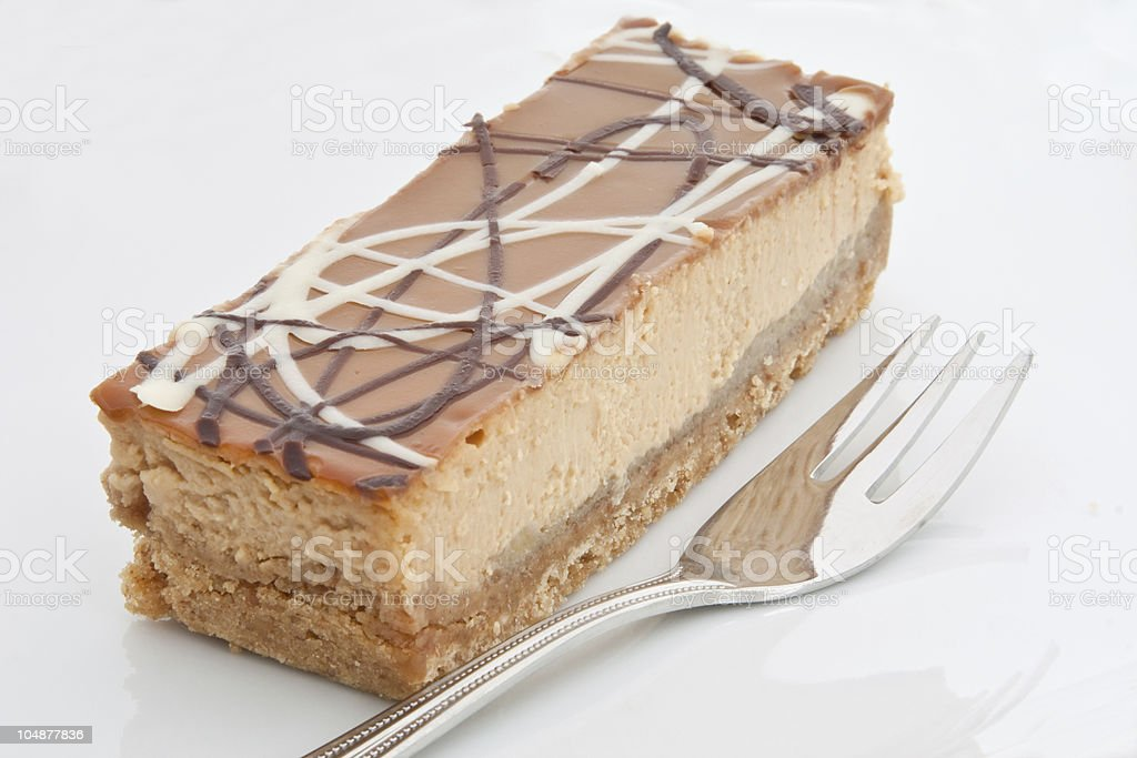 Banoffee Cheesecake royalty-free stock photo