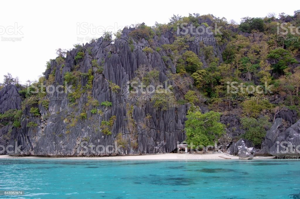 Banol beach, Coron island, Palawan stock photo