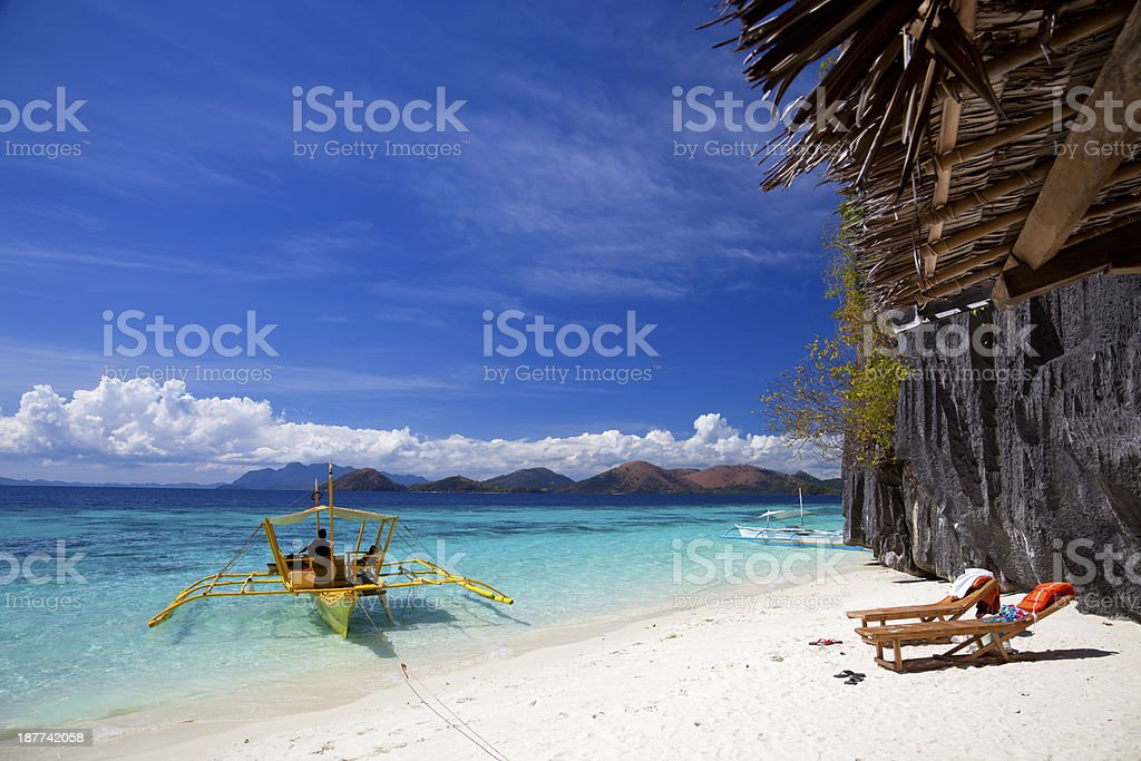 Banol beach, Coron island, Philippines stock photo