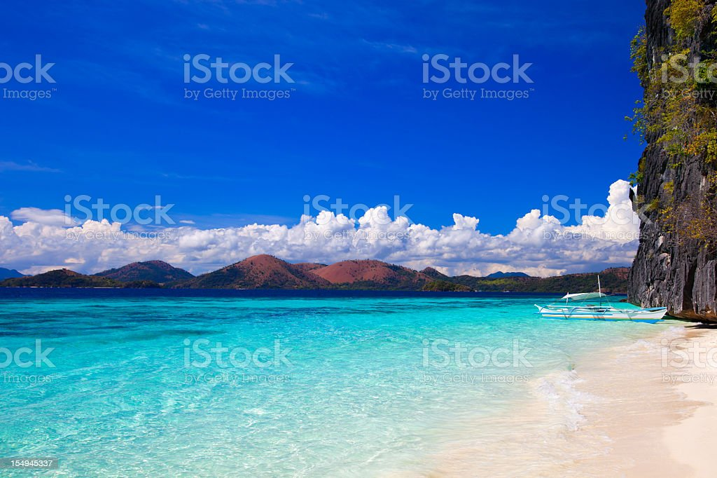 Banol beach in Coron, Philippines royalty-free stock photo