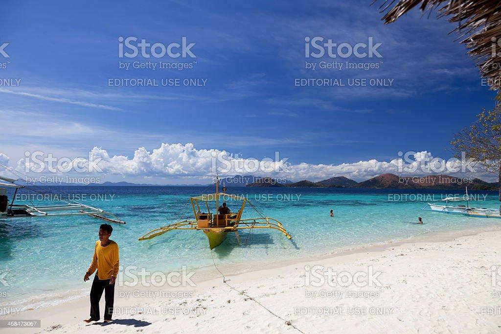 Banol beach in Coron, Philippines stock photo