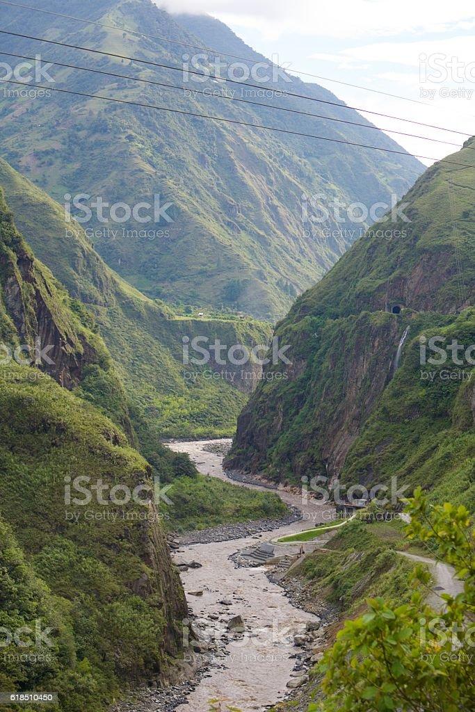Banos valley stock photo