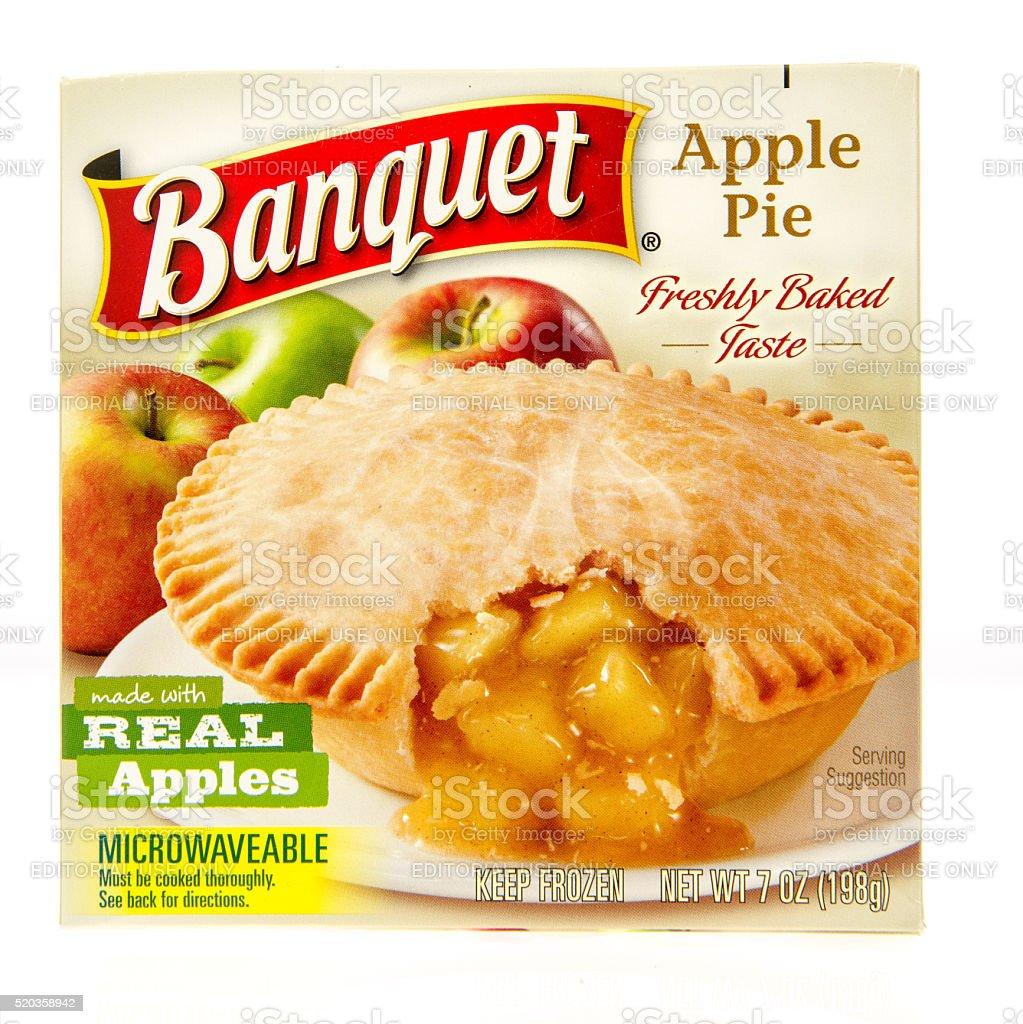 Banquet Apple  Pot Pie stock photo