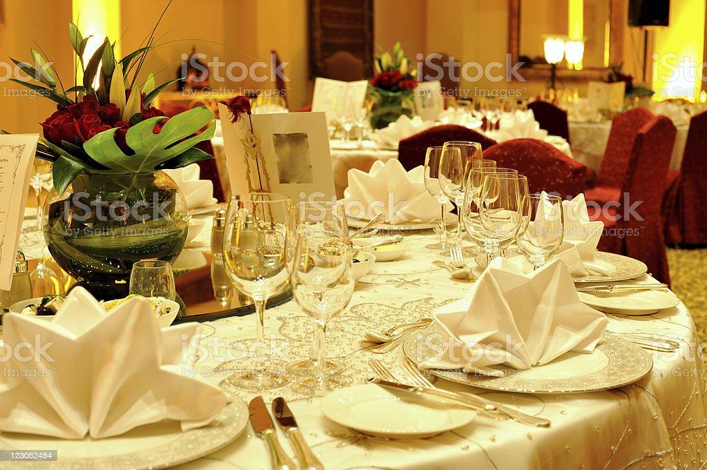 banquet dinner stock photo