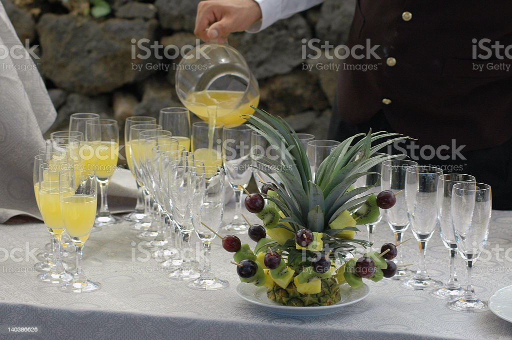 banquet during a wedding royalty-free stock photo