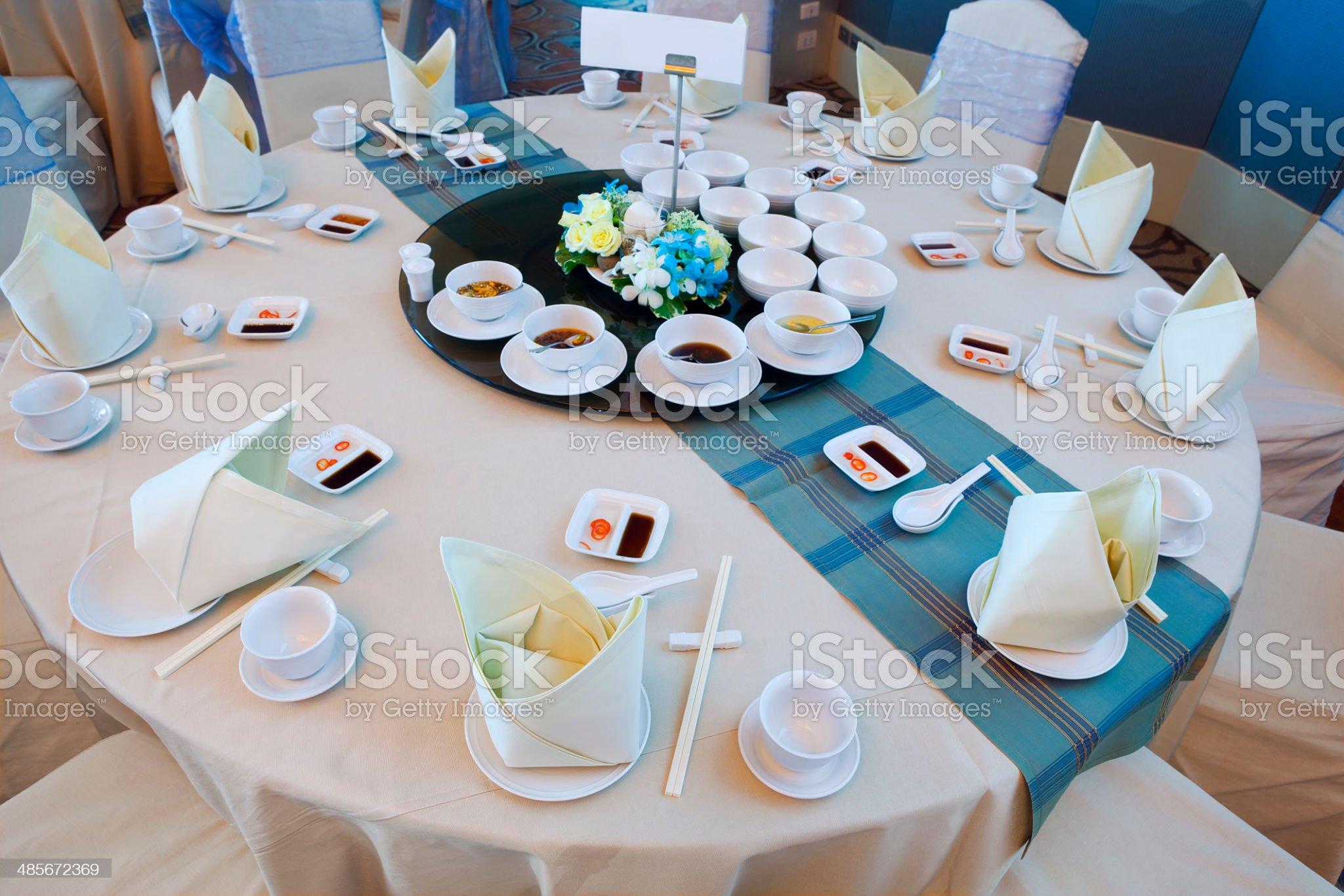 Banquet hall in Bangkok Thailand royalty-free stock photo