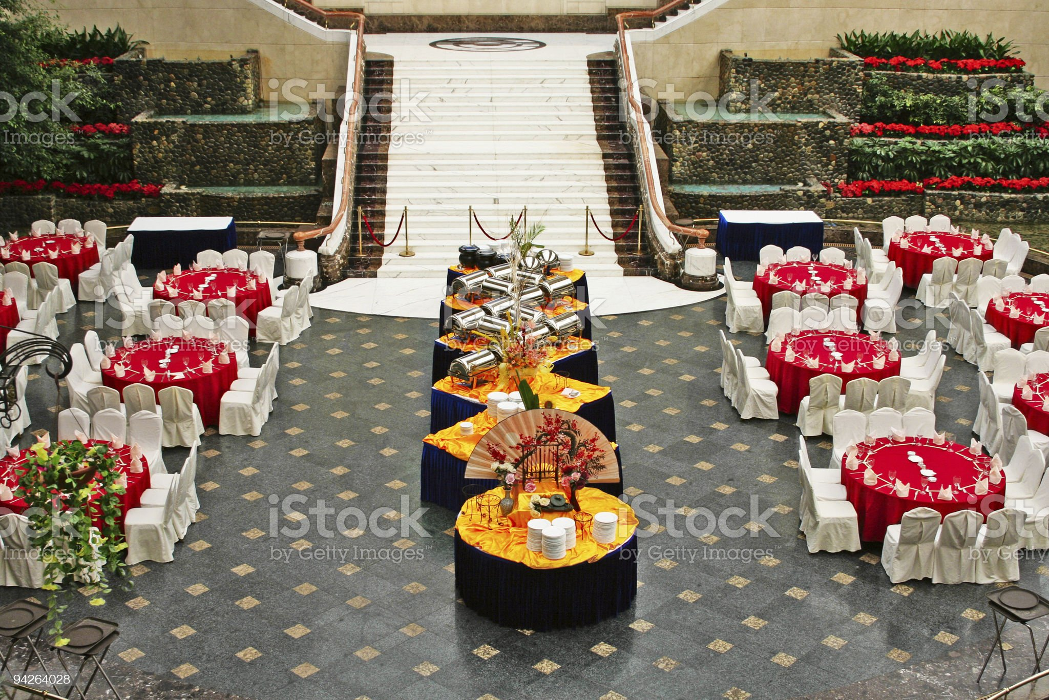 banquet in asian style royalty-free stock photo