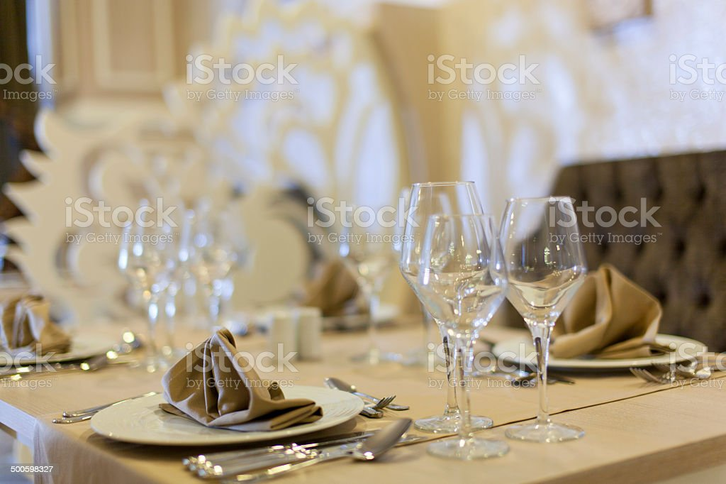 Banquet Setting stock photo