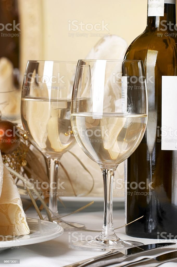 Banquet table setting royalty-free stock photo