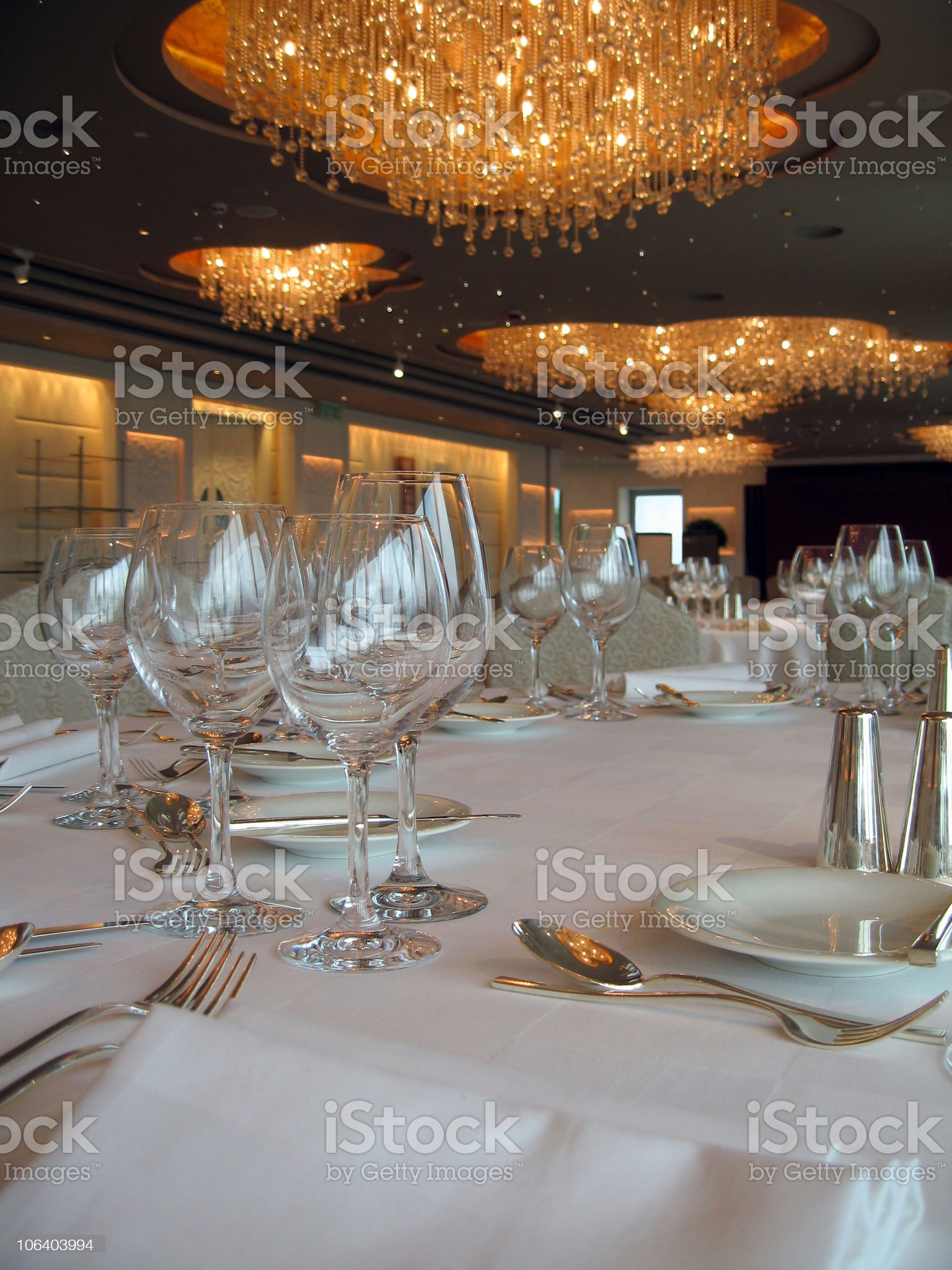 Banquet Tables 2 royalty-free stock photo