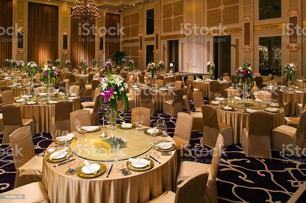 Banquet Tables stock photo