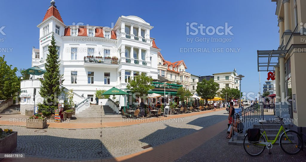 Bansin - Usedom, Germany at Baltic sea in summer stock photo