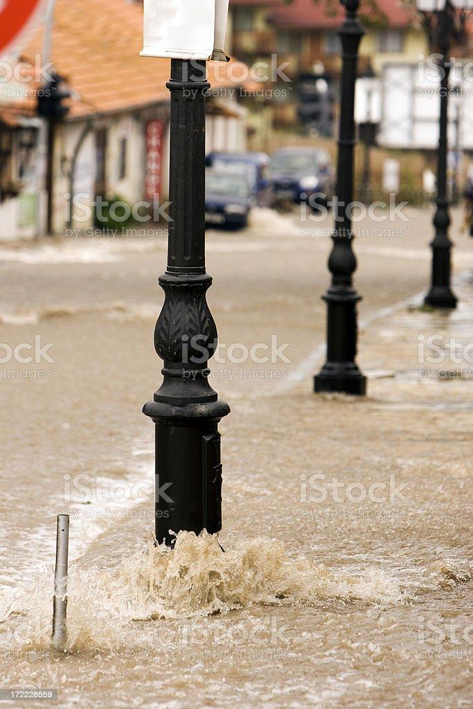Bansko Floods royalty-free stock photo
