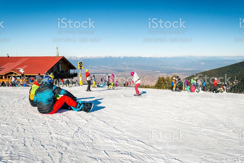 Bansko ski resort in Bulgaria stock photo