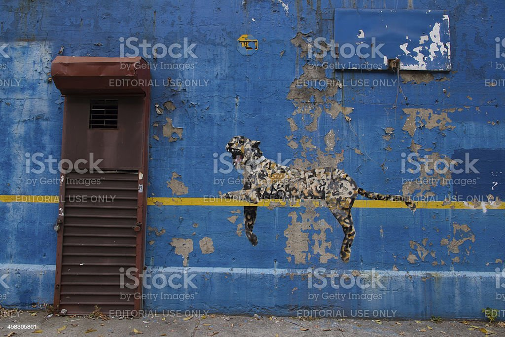 Bansky Paints in the Bronx stock photo