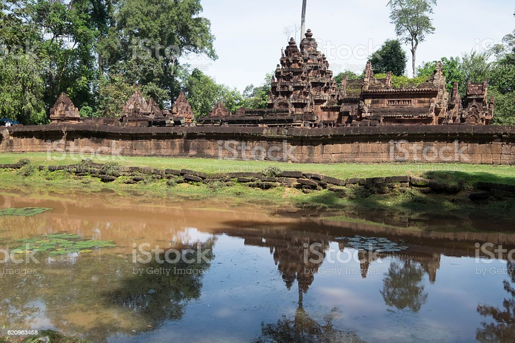Banteay Srei stock photo