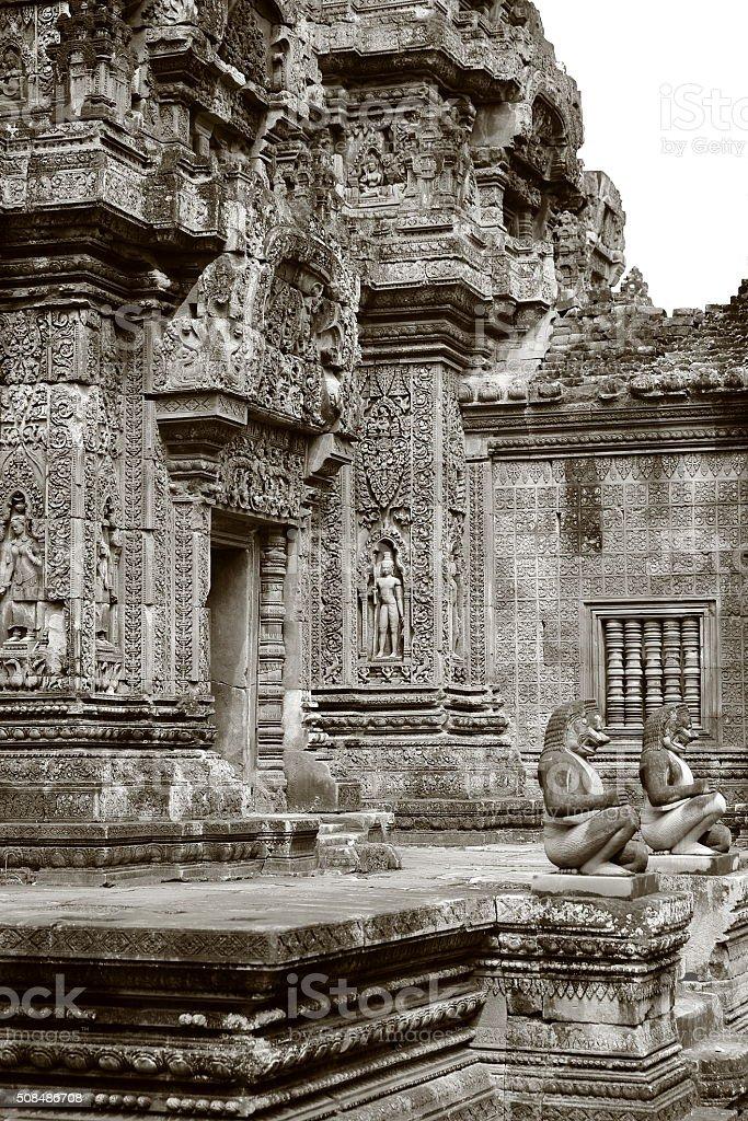 banteay srei temple II stock photo
