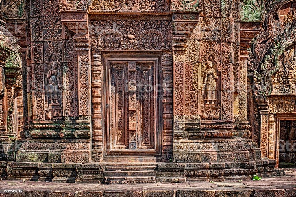 Banteay Srei temple in Angkor, Cambodia stock photo