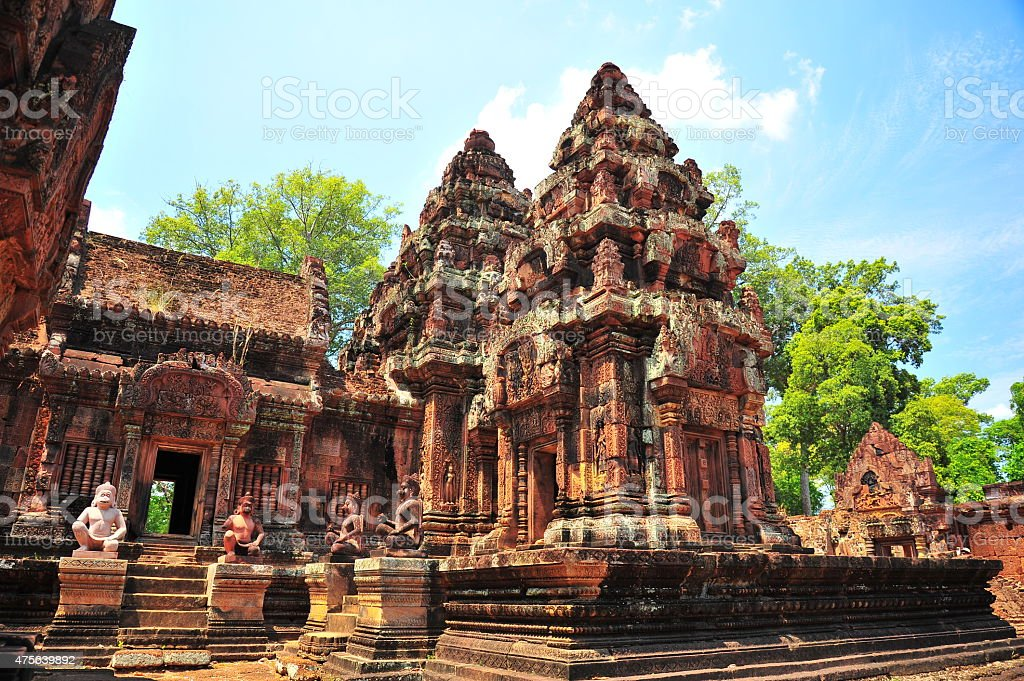 Banteay Srei Temple of Angkor in Siem Reap, Cambodia stock photo