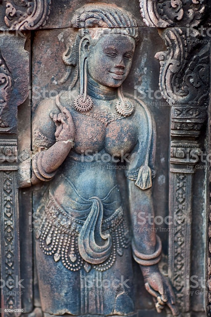 Banteay Srey Temple, Cambodia stock photo