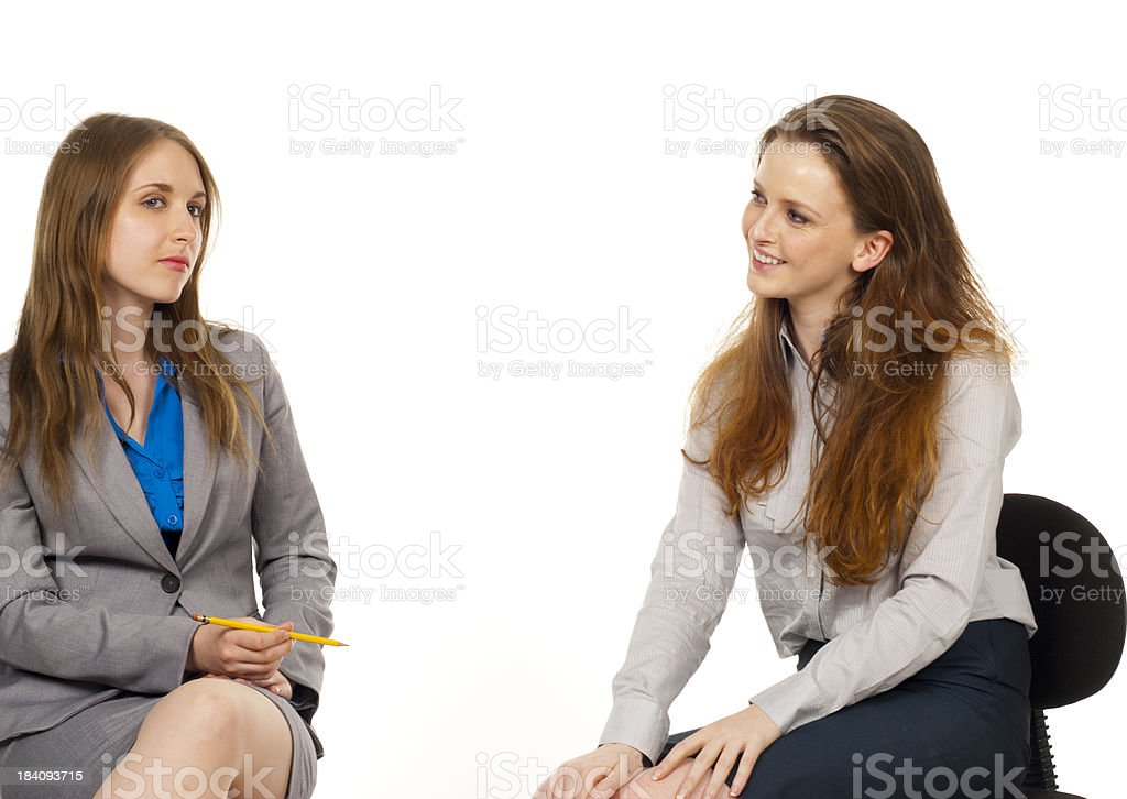 Banter between two business women royalty-free stock photo
