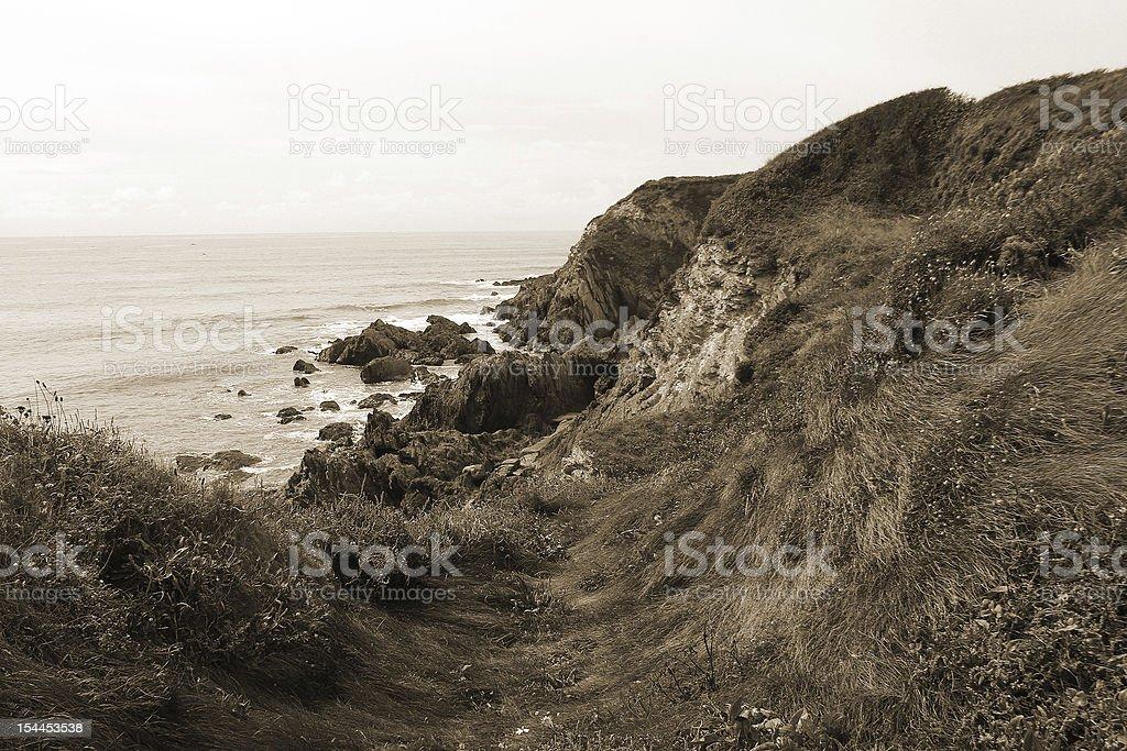 Bantham Cliff Hiking percorso foto stock royalty-free