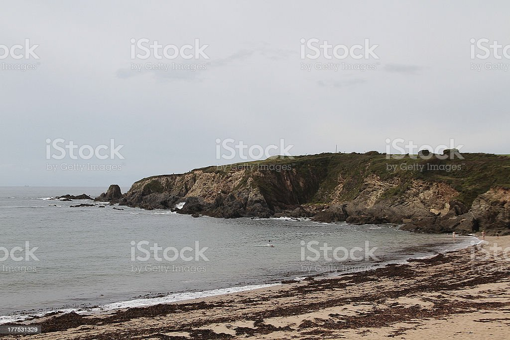 Bantham Cliff foto stock royalty-free