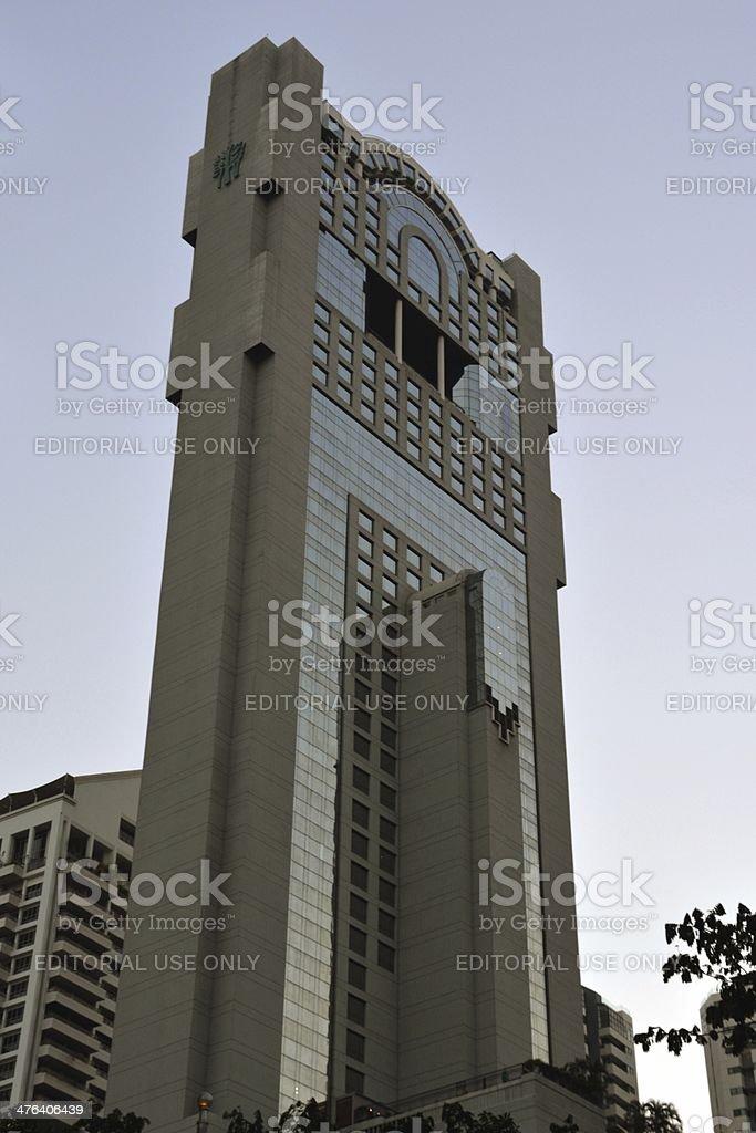 Banyan Tree Hotel building Thai Wah Tower II, Bangkok Thailand royalty-free stock photo