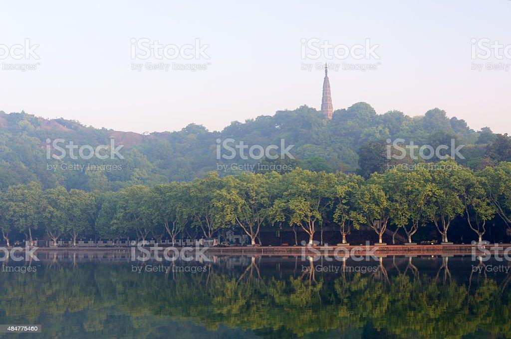 Baochu Pagoda at Sunrise stock photo