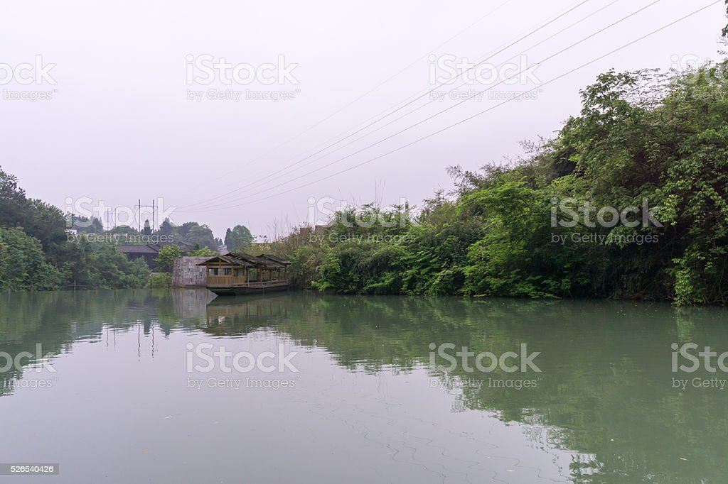 baofeng lake scenery stock photo