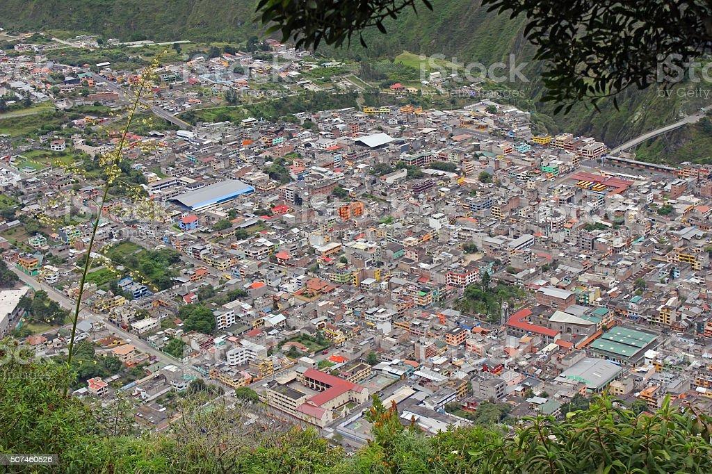 Baños, Ecuador stock photo