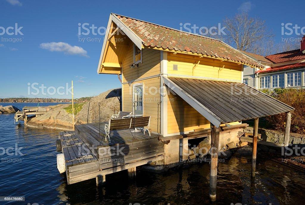 Baothouse in Vaxholm stock photo