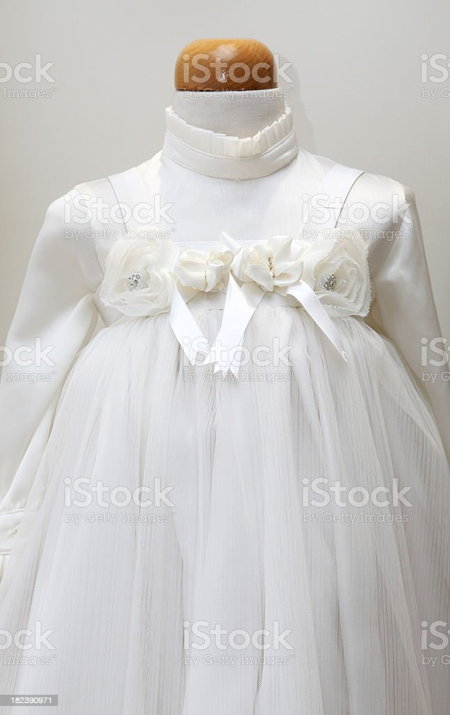 Baptism gown royalty-free stock photo