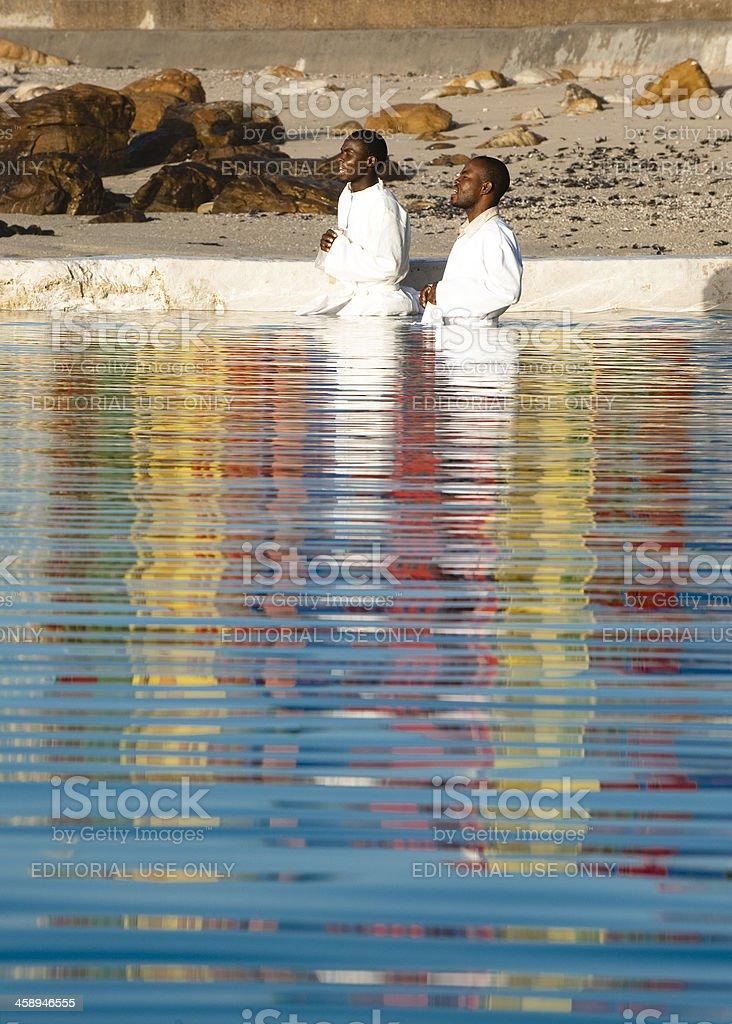 Baptism prayer stock photo