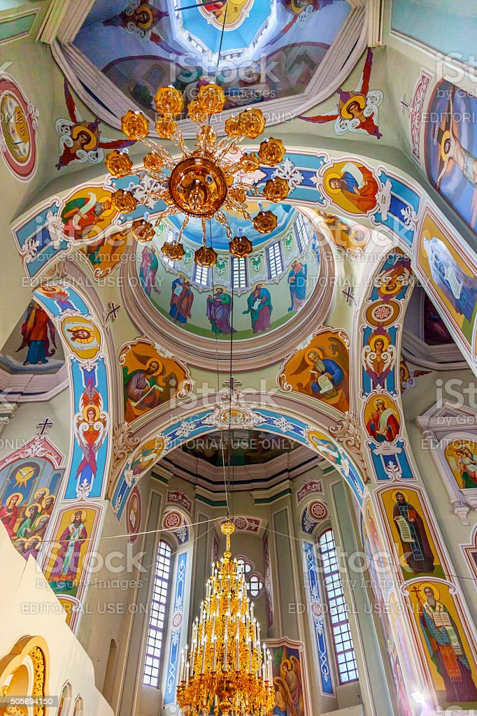 Baptism Saint George Cathedral Vydubytsky Monastery Kiev Ukraine stock photo