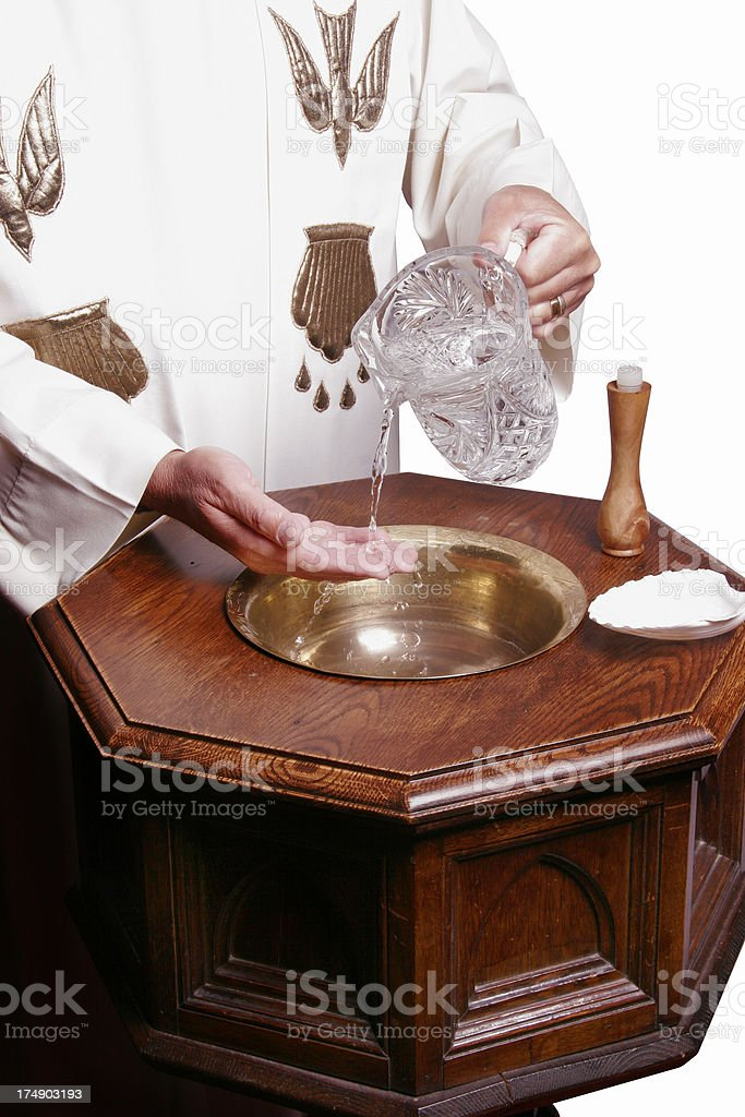 Baptismal Font 2 royalty-free stock photo