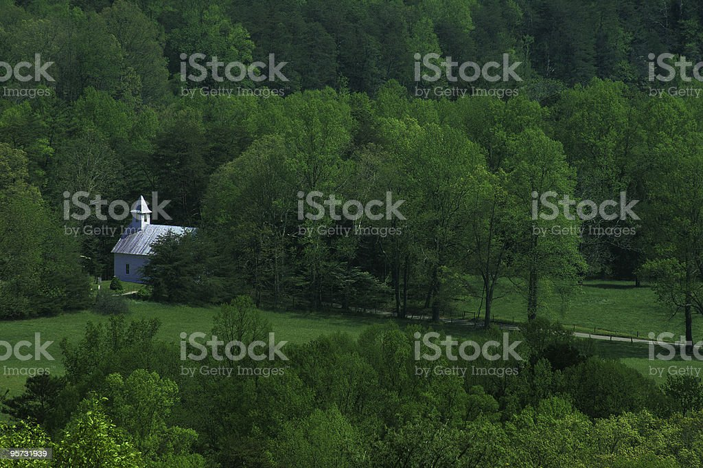 Baptist Church 1, Great Smoky Mountains NP, Tennessee royalty-free stock photo