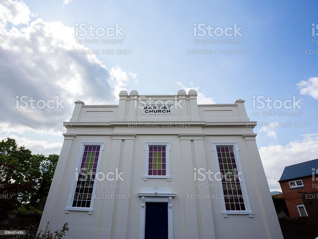 Baptist Church stock photo