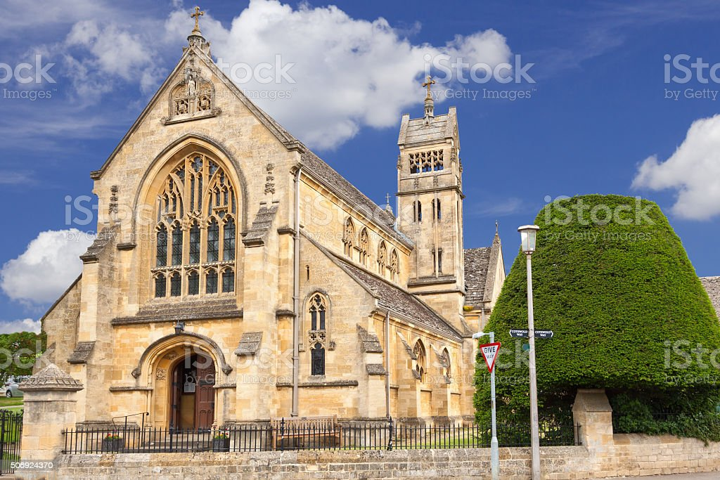 Baptist Ghurch of St Catharine, Chipping Campden, Cotswold, England, UK. stock photo