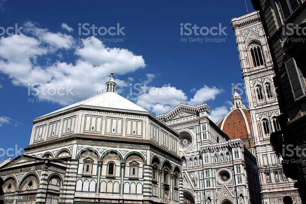 Baptistery and Dome stock photo
