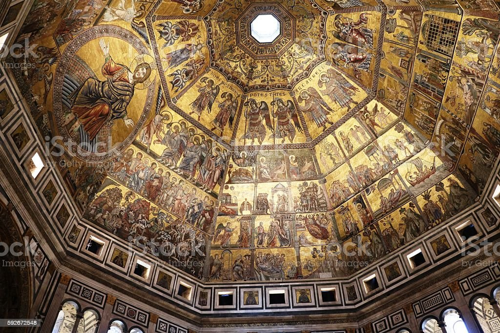 Baptistery Florence Italy stock photo