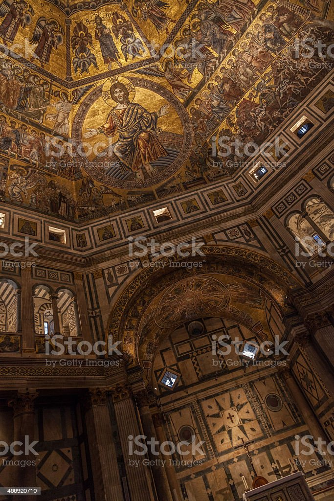 Baptistery of Saint John in Florence, Italy stock photo