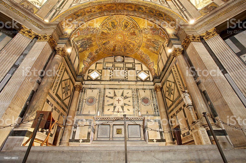 Baptistery Of San Giovanni In Florence stock photo