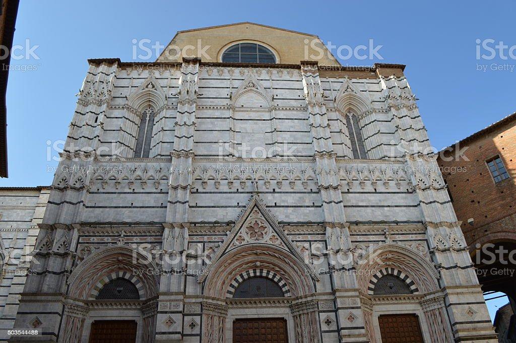 Baptisterio de Siena foto de stock libre de derechos