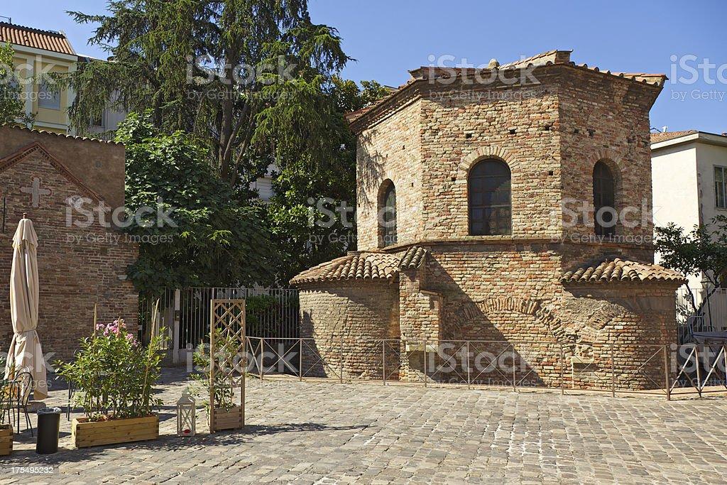 Baptistery of the Arians (Battistero degli Ariani), Ravenna, Italy. stock photo