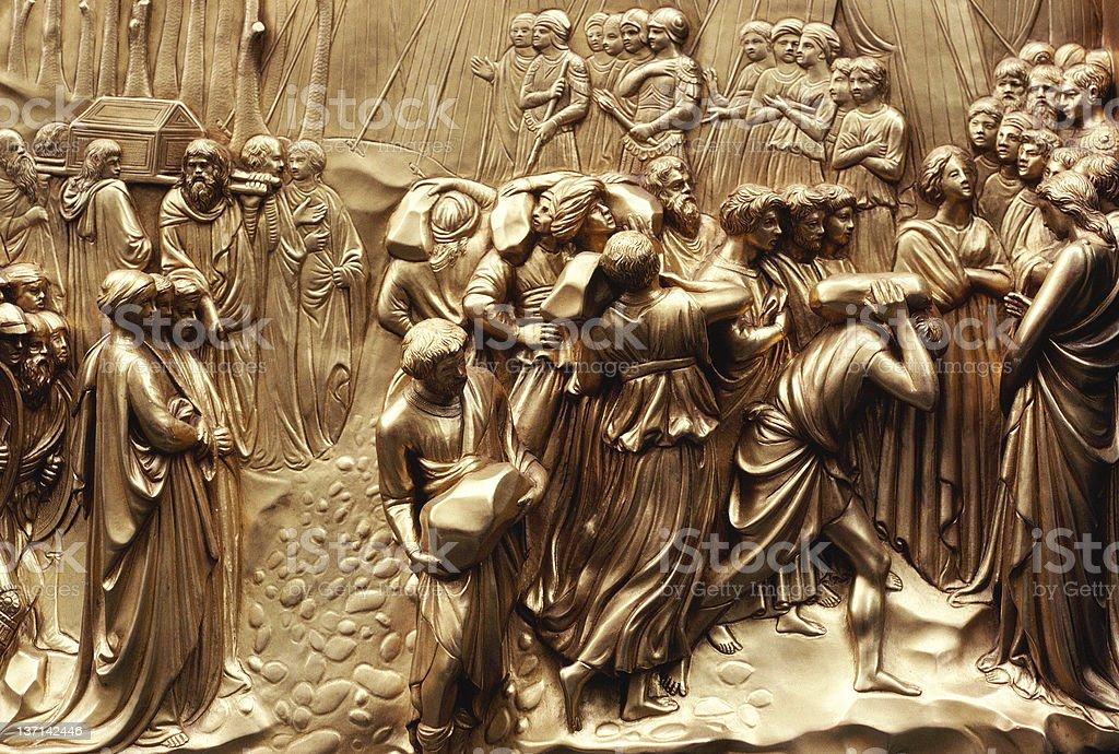 Baptistry Door Detail, Duomo, Florence, Italy royalty-free stock photo